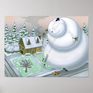 Giant Snowman Poster