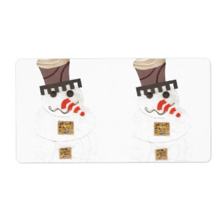 Giant Snowman Shipping Labels