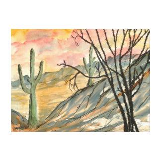 Giant southwestern landscape painting modern art gallery wrap canvas