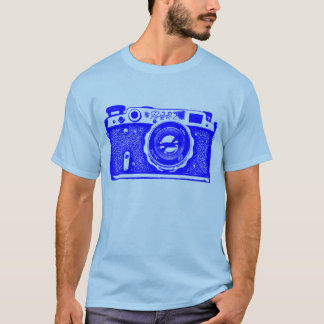 Giant Soviet Russian Camera - Blue T-Shirt