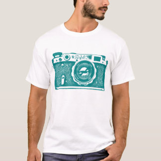 Giant Soviet Russian Camera - Medium Dk Cyan T-Shirt