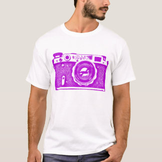 Giant Soviet Russian Camera - Purple T-Shirt