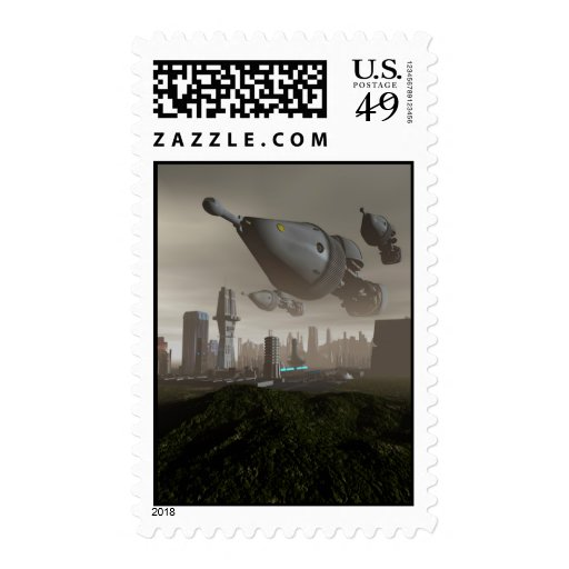 Giant Spacecraft Arrival 2 Postage