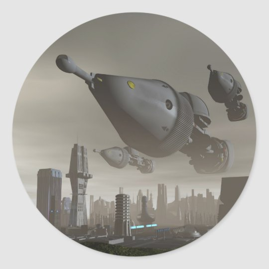 Giant Spacecraft Arrival 2 Sticker