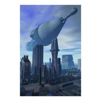 Giant Spacecraft Arrival Poster