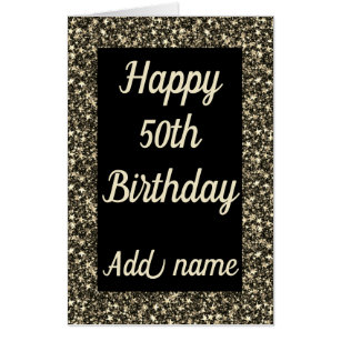 Giant Special Personalised 50th Birthday Card