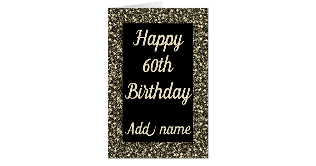 Giant Special Personalised 60th Birthday Card