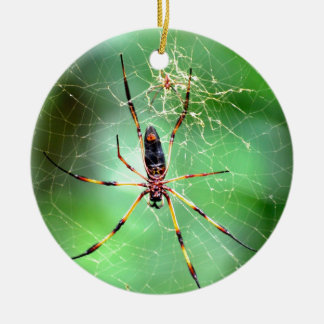 Giant Spider Double-Sided Ceramic Round Christmas Ornament