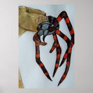 Giant spider lifesize print