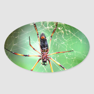Giant Spider Oval Sticker