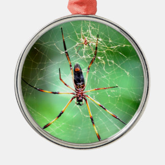 Giant Spider Round Metal Christmas Ornament