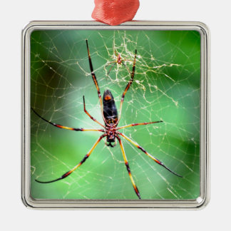 Giant Spider Square Metal Christmas Ornament