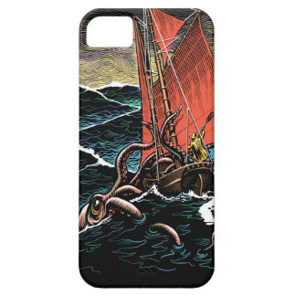 Giant Squid Attack case iPhone 5 Covers