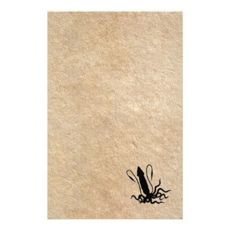 Giant Squid on old parchment Stationery