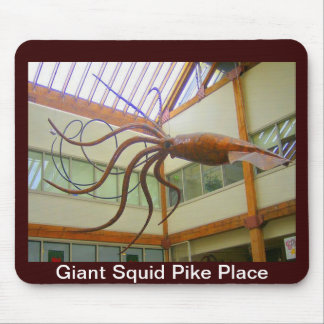 Giant Squid Pike Place Market Seattle, WA Mouse Pad