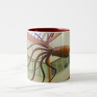 Giant Squid Pike Place Market Seattle, WA Two-Tone Coffee Mug