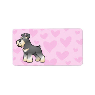 Giant/Standard/Miniature Schnauzer Love Label