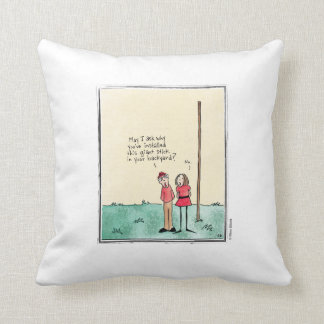 GIANT STICK cartoon by Ellen Elliott Throw Pillow