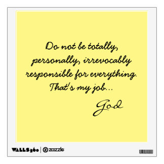 Giant Sticky Note from God Wall Decals