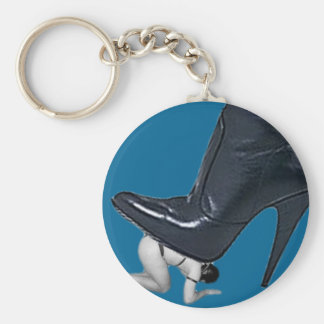 Giant Stiletto Boot Stepping on a slave Keychain