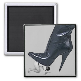 Giant Stiletto Boot Stepping on a slave Magnet