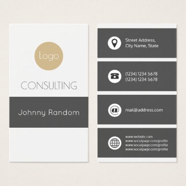 Professional Business Giant stripe gray color cover business card