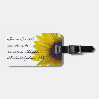 Giant Sunflower Luggage Tag - Customizable
