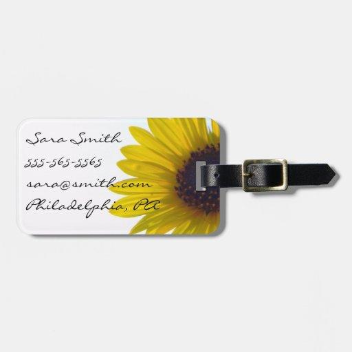 Giant Sunflower Luggage Tag - Customizable