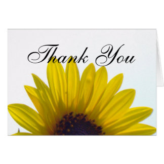 Giant Sunflower Thank You Card