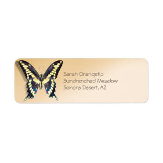Giant Swallowtail Butterfly Label