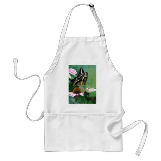 Giant Swallowtail Butterfly on Flowers Adult Apron