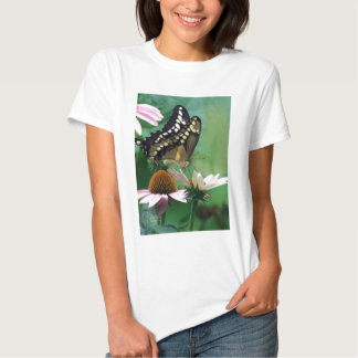 Giant Swallowtail Butterfly on Flowers T Shirt