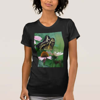 Giant Swallowtail Butterfly on Flowers Tee Shirt