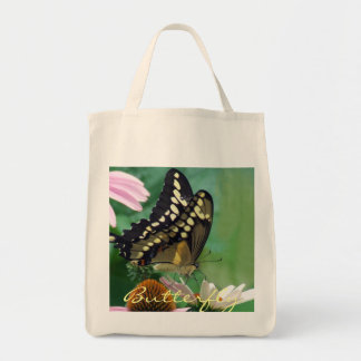 Giant Swallowtail Butterfly on Flowers Tote Bag