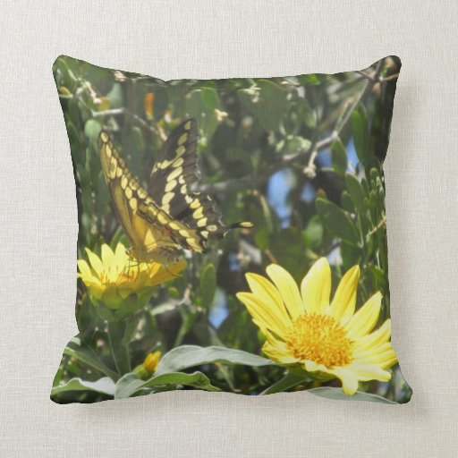Giant Swallowtail Butterfly Pillow