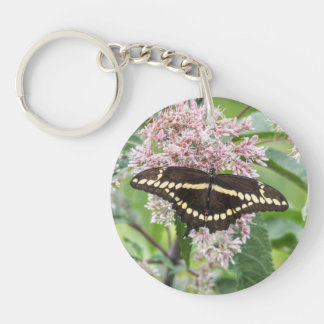 Giant Swallowtail Single-Sided Round Acrylic Keychain