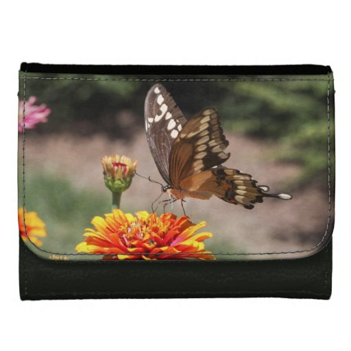 Giant Swallowtail Leather Wallet For Women