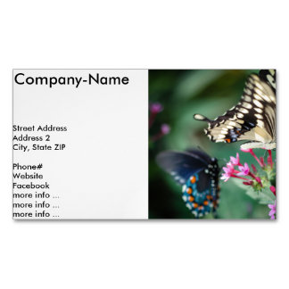 Giant Swallowtail Papilio Cresphontes Magnetic Business Card