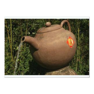 Giant teapot at Pinglin, Taiwan Card