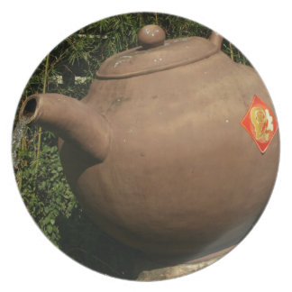 Giant teapot at Pinglin, Taiwan Dinner Plate