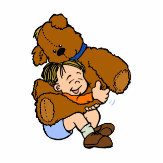 Giant Teddy Bear Hug Photo Cut Out