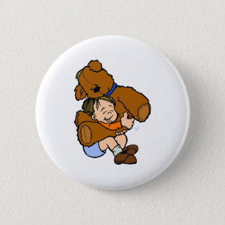 Giant Teddy Bear Hug Pinback Button