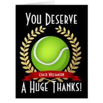 Giant Tennis Coach Thank You Black