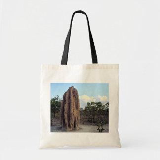Giant termite mound, Northern Territory, Australia Budget Tote Bag