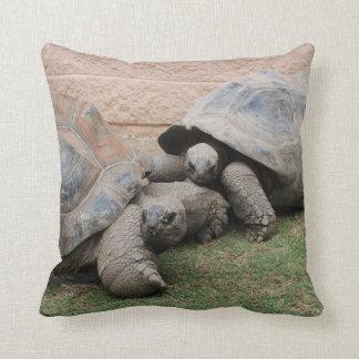 giant tortoises throw pillow