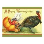 Giant Turkey Vintage Thanksgiving Art Cards Postcards