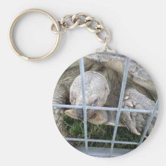 Giant Turtle Basic Round Button Keychain