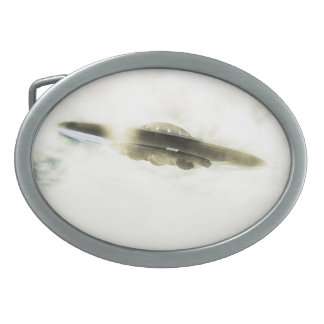 Giant UFO Oval Belt Buckle