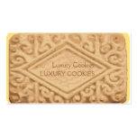 Giant Vanilla Sandwich Cream Cookie Business Card