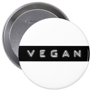 Giant vegan embossed design badge pinback button